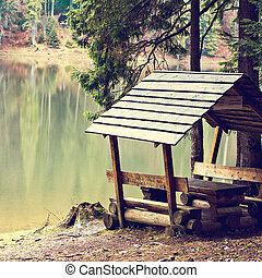 A place to relax, a gazebo near the lake