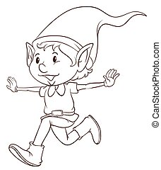 A plain drawing of an elf - Illustration of a plain drawing ...