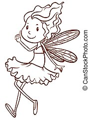 A plain sketch of a fairy