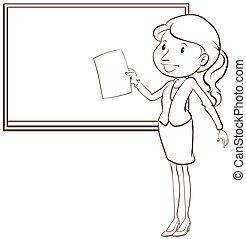 A plain sketch of a teacher - Illustration of a plain sketch...