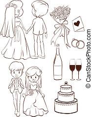 A plain sketch of a wedding ceremony