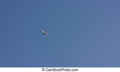 A plane in the Blue Sky