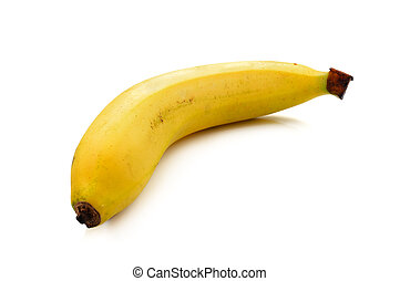 a plantain banana isolated on white background