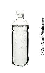 A plastick bottle of water