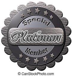 "Special Platinum Member - A platinum seal with ""Special..."