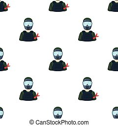A player in paintball. Paintball single icon in cartoon style vector symbol stock illustration web.