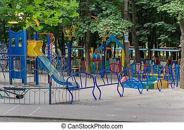 playground in the summer park