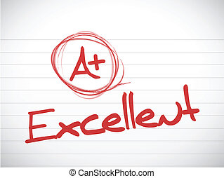 a plus excellent grade illustration design