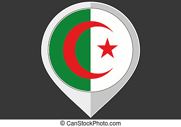 Pointer with the flag of Algeria