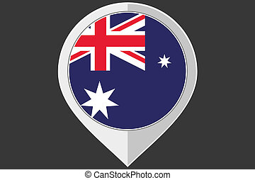 Pointer with the flag of Australia