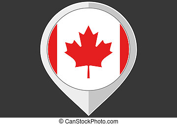Pointer with the flag of Canada