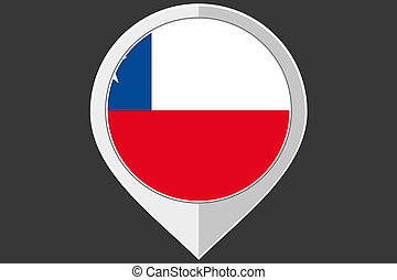 Pointer with the flag of Chile