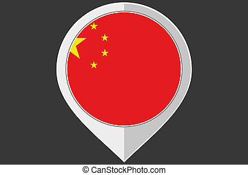 Pointer with the flag of China