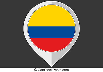 Pointer with the flag of Colombia
