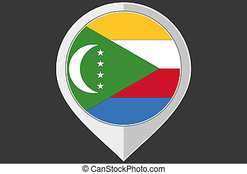 Pointer with the flag of Comoros