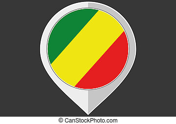 Pointer with the flag of Congo