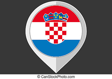 Pointer with the flag of Croatia