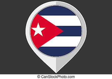 Pointer with the flag of Cuba