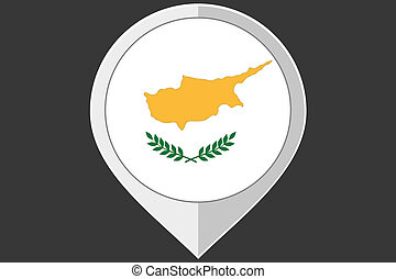 Pointer with the flag of Cyprus