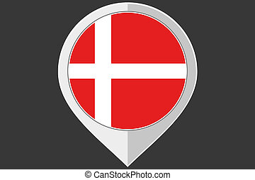 Pointer with the flag of Denmark