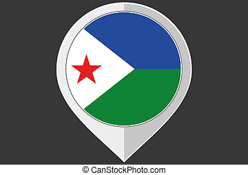 Pointer with the flag of Djibouti