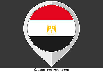 Pointer with the flag of Egypt