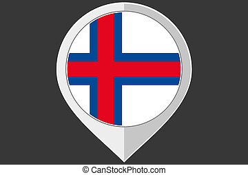 Pointer with the flag of Faroe Islands