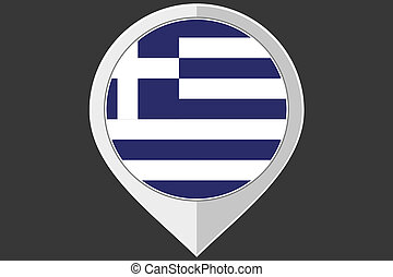 Pointer with the flag of Greece