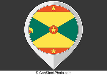 Pointer with the flag of Grenada