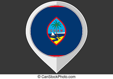 Pointer with the flag of Guam