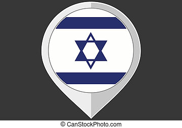 Pointer with the flag of Israel