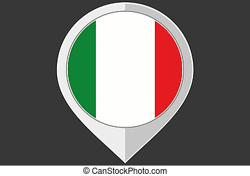 Pointer with the flag of Italy