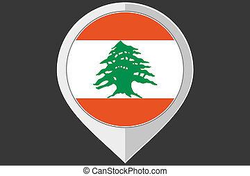 Pointer with the flag of Lebanon