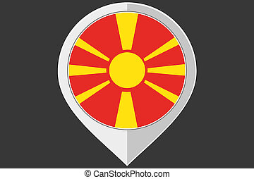 Pointer with the flag of Macedonia