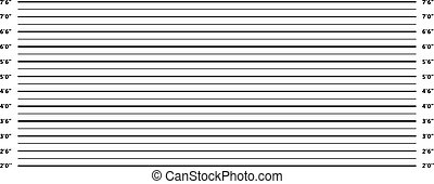 A Police line up background in black and white
