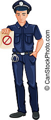 A police officer - Illustration of a police officer on a...
