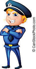 A police officer - Illustration of a police officer on a ...