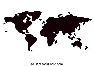 A political map of the World. Vector illustration on white background.