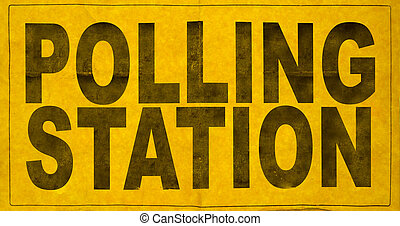 Polling Station Sign - A Polling Station Sign For An...