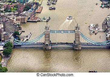 a, ponte torre, em, londres