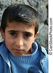 a poor boy portrait