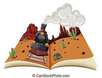 A Pop-up Book Desert Scene