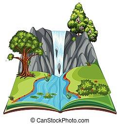 A Pop Up Book Landscape