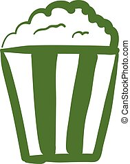 A popcorn icon vector or color illustration