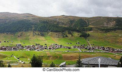 A popular mountain resort