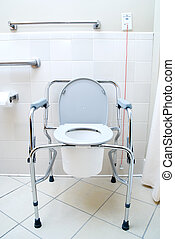 Portable Toilet - A Portable Toilet in a hospital patients...