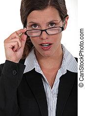 A portrait of a businesswoman.