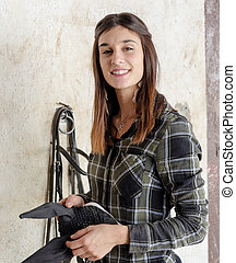 portrait of a young woman rider