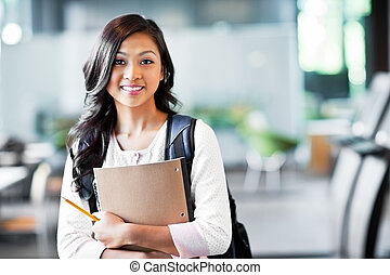 Asian college student - A portrait of an Asian college ...