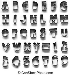 Metal alphabet symbol, isolated in white background